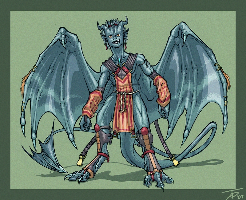 Dragon Anthro by KaiserFlames