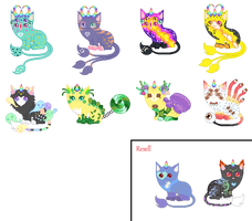 Leftover Unicats(*8 Open*) by xavs-pixels