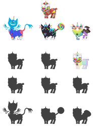 Gumball Mutant Breedings - WIP by xavs-pixels