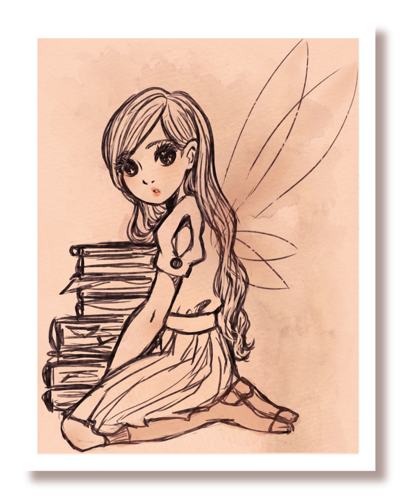 old photo about a fairy by sonkahalx3
