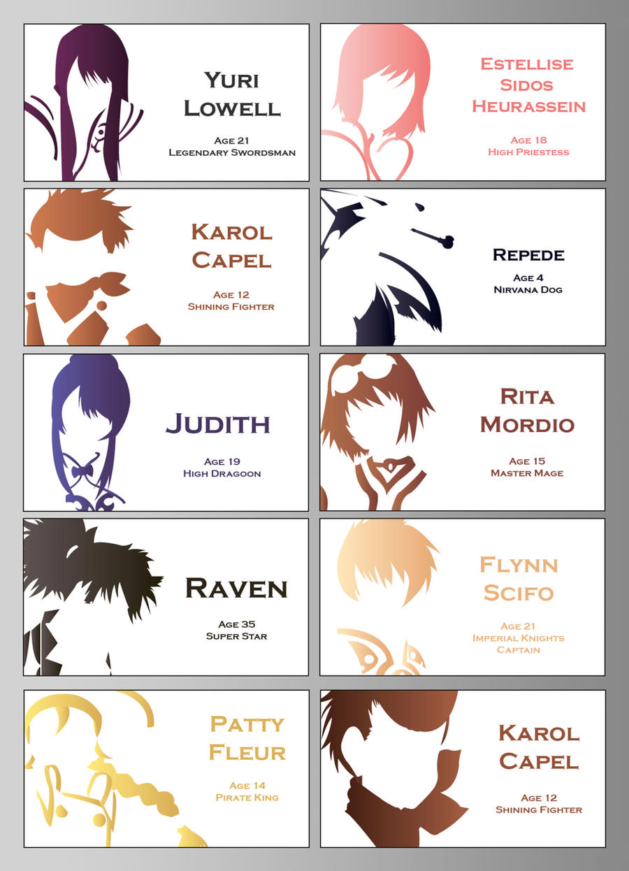 Tales Of Vesperia Logos By Talesoforion On Deviantart