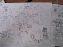 Super Rough Sketches for armor....