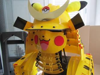 Pikachu Samurai: Mask completion by Andihandro