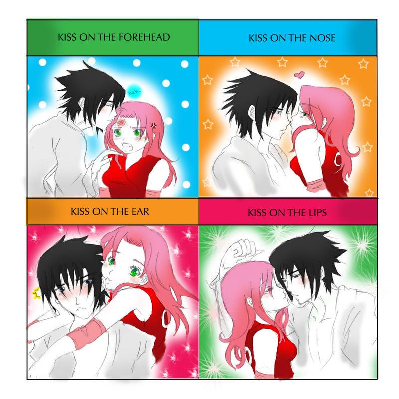 sasuke and sakura kiss meme by dramaqueen14 on deviantart