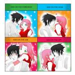 Sasuke and Sakura kiss meme