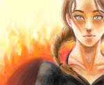 katniss- the girl on fire