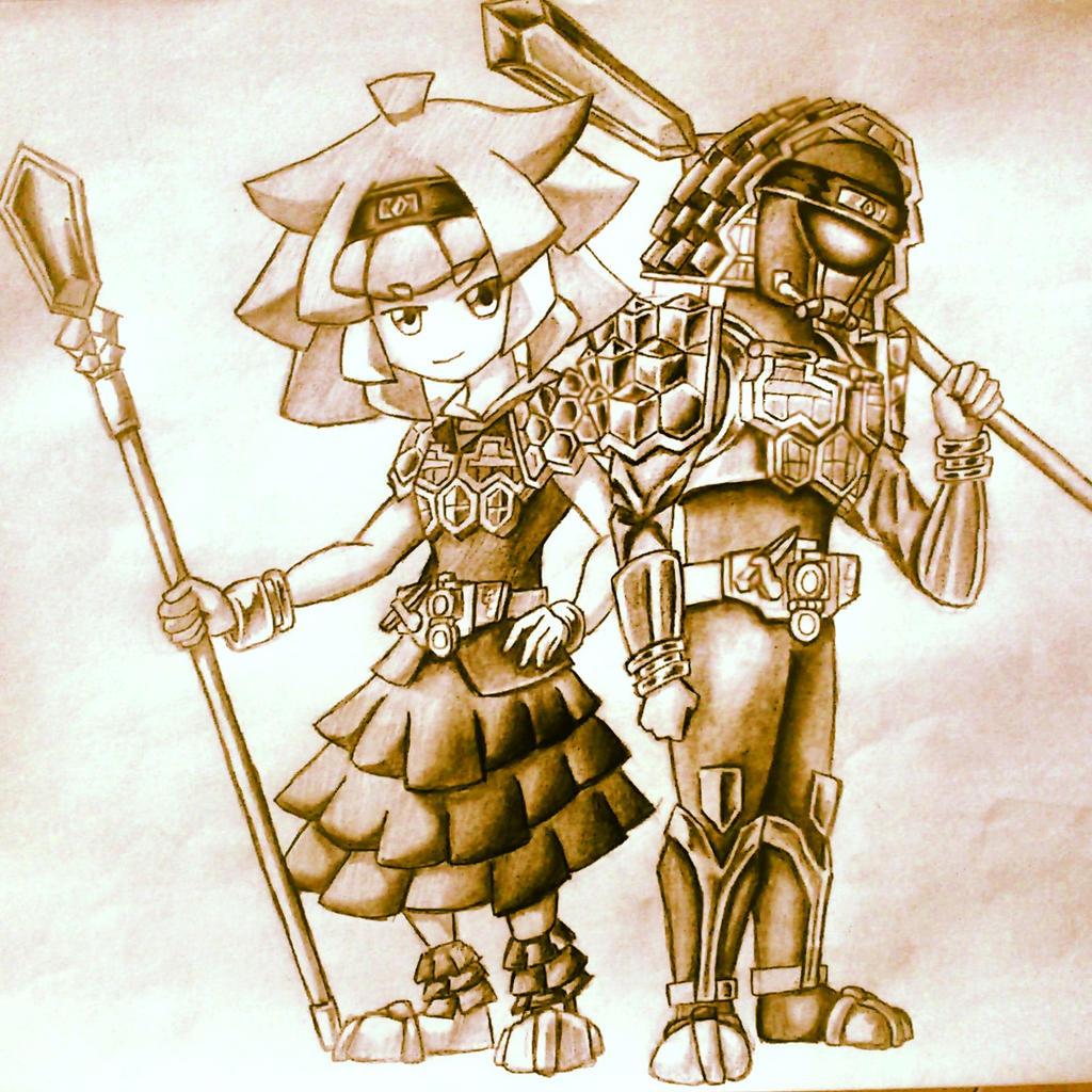 Kamen Rider Kurokage and Kurokage Girl by ArkAges