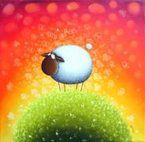 Sheep Full Of Butterfly Dreams by Gabriele-Art
