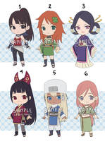 [CLOSED] Naruto Adoptable Set 13 - Set Price by Tsuru-Adopts