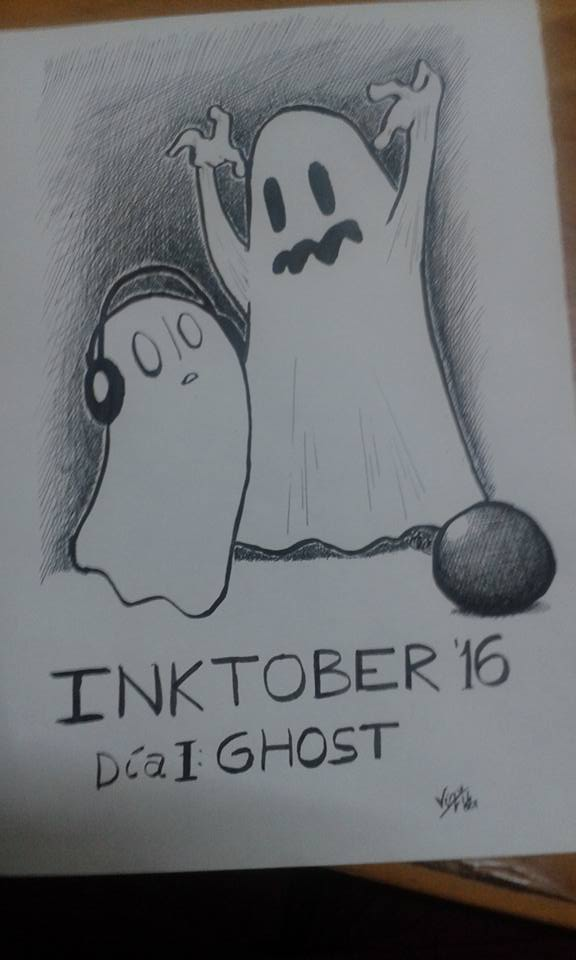 Inktober 1 - Ghost/Fantasma by FerVizu