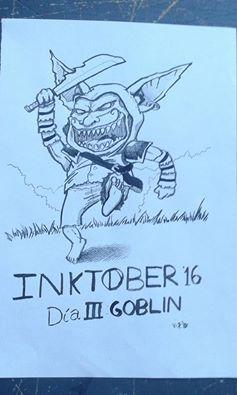 Inktober 3 - Goblin by FerVizu