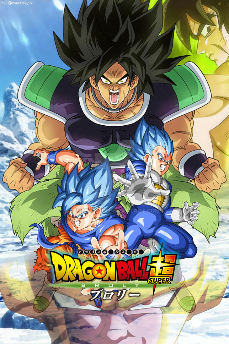 Film dragon ball super broly 2018 poster by imedjimmy on deviantart - Dbz one piece ...