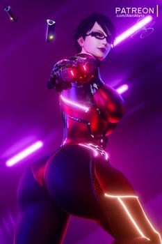 Cyberpunk Sexy Bayonetta