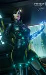 Elizabeth Cyberpunk from Bioshock Infinite