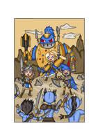 Reyla's Last Stand against the Zuk Zuk Orcs by Eledrath