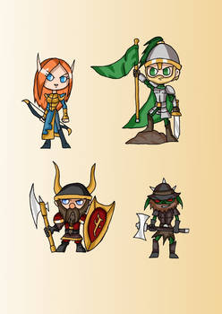High Fantasy Cuties - Elf, Human, Dwarf, Goblin