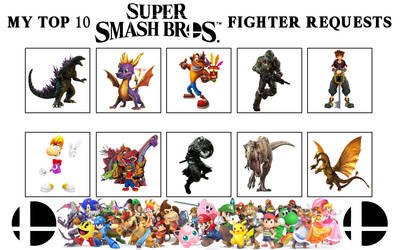 My Top 10 Super Smash Bros Fighter Requests