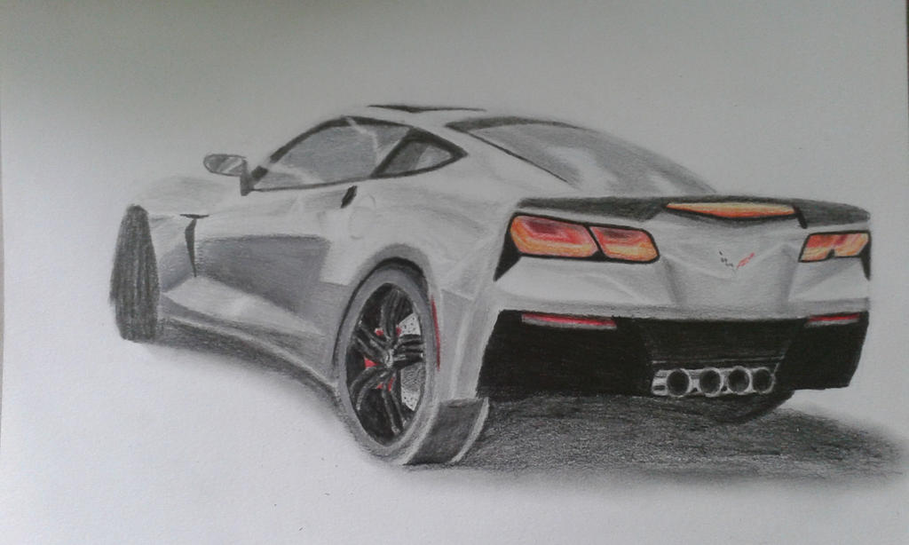 corvette c7 drawing by iwassomeonebetter on deviantart