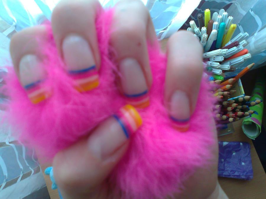 Rainbow Nail Design by AnyRainbow