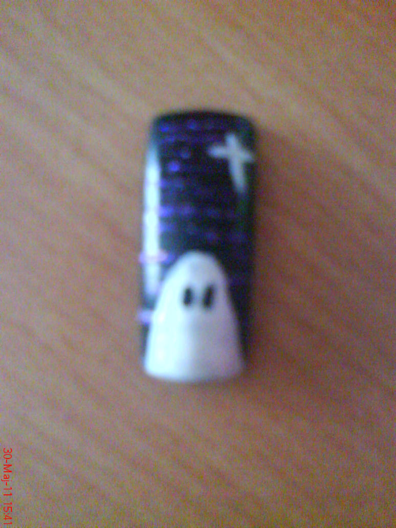 Ghost Nail Design by AnyRainbow