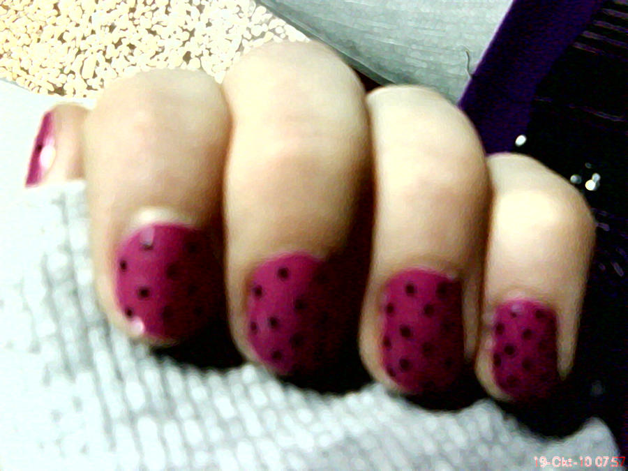 Pink Nail Design by AnyRainbow