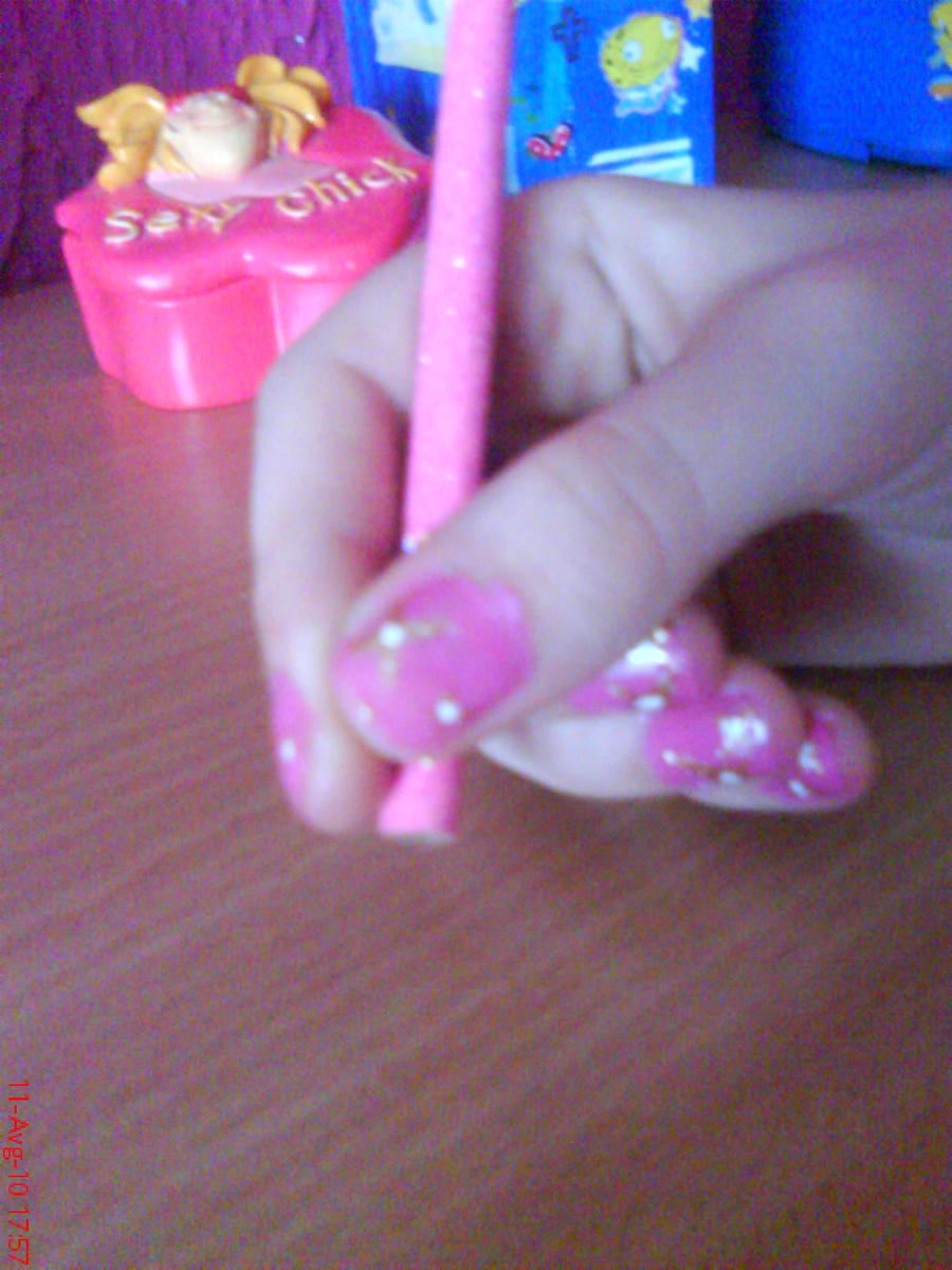 Simple Pink Nail Design by AnyRainbow
