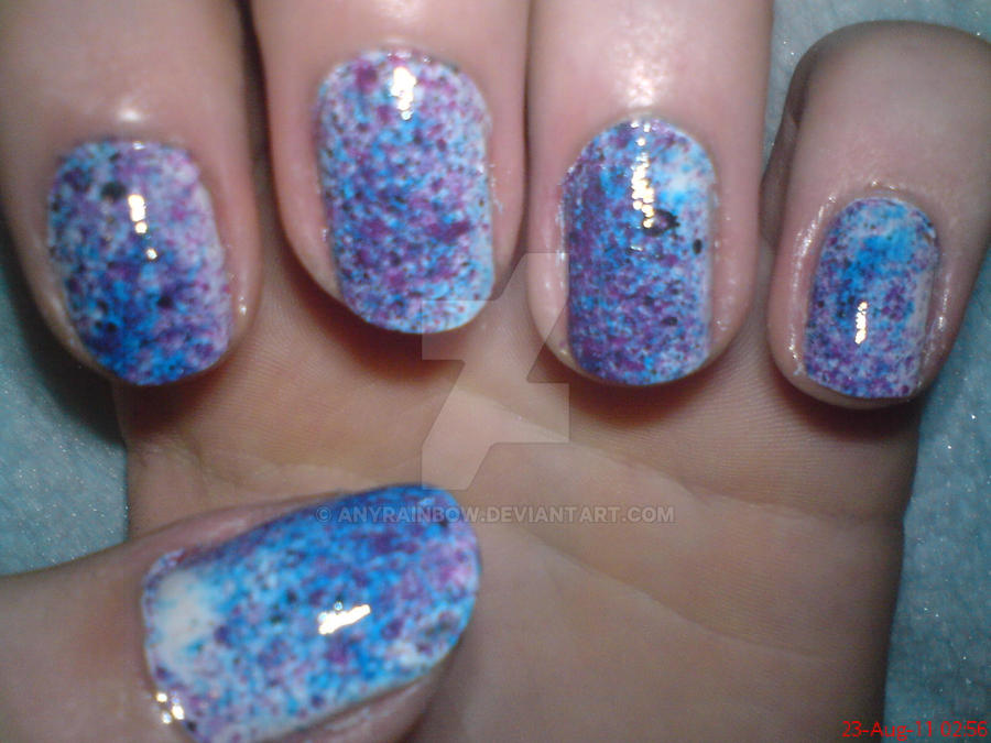 Splatter Nail Design by AnyRainbow