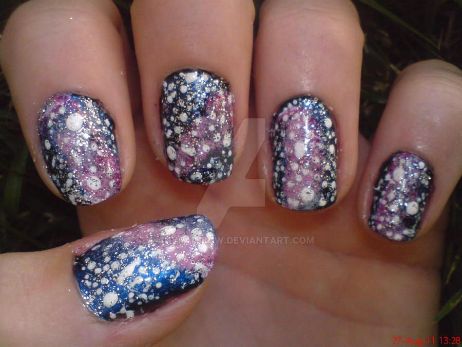 Pink Galaxy Nail Design by AnyRainbow on DeviantArt