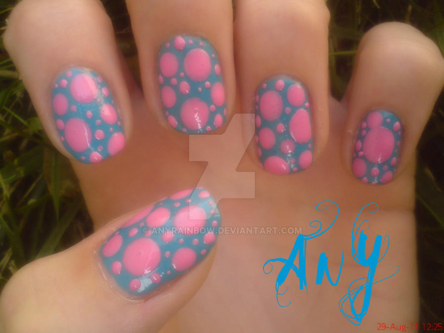 Simple Dots Nail Design by AnyRainbow