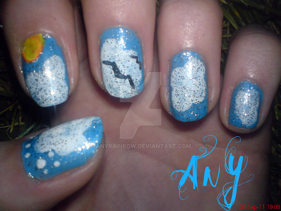 Sky Nail Design by AnyRainbow