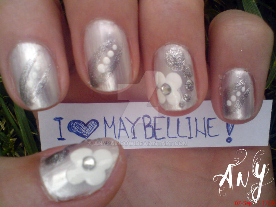 White Nail Design by AnyRainbow