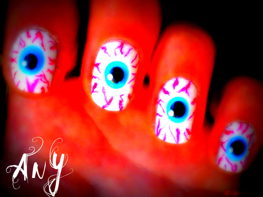 Eye Nail Design Edit by AnyRainbow