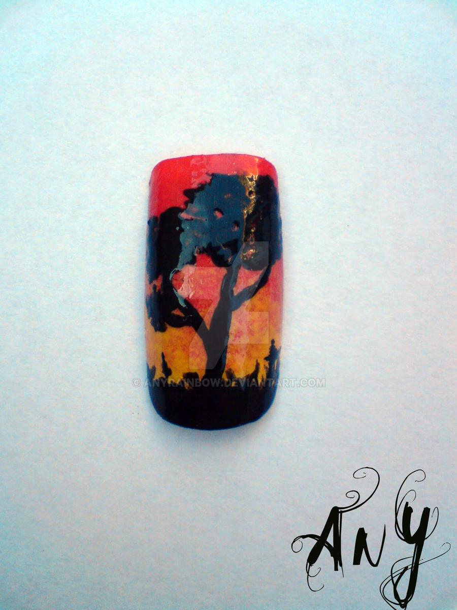 Tree Nail Design by AnyRainbow