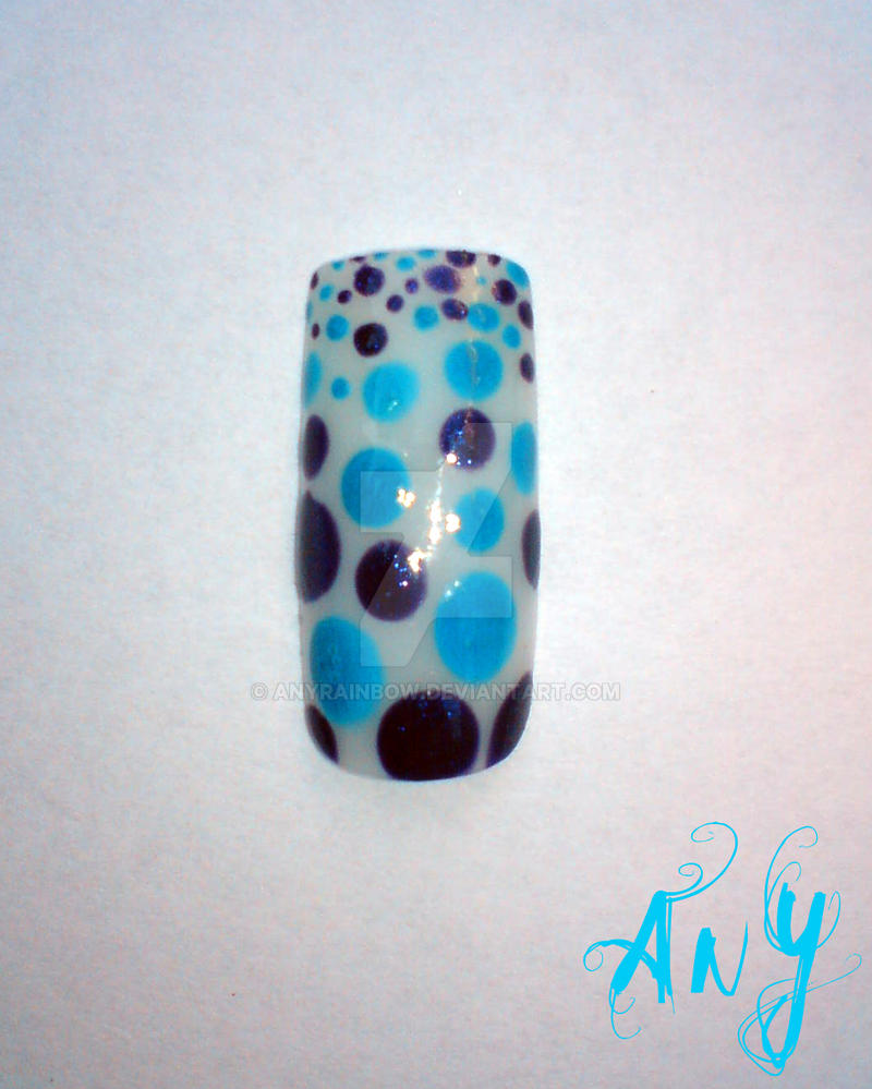 Dots Nail Design by AnyRainbow