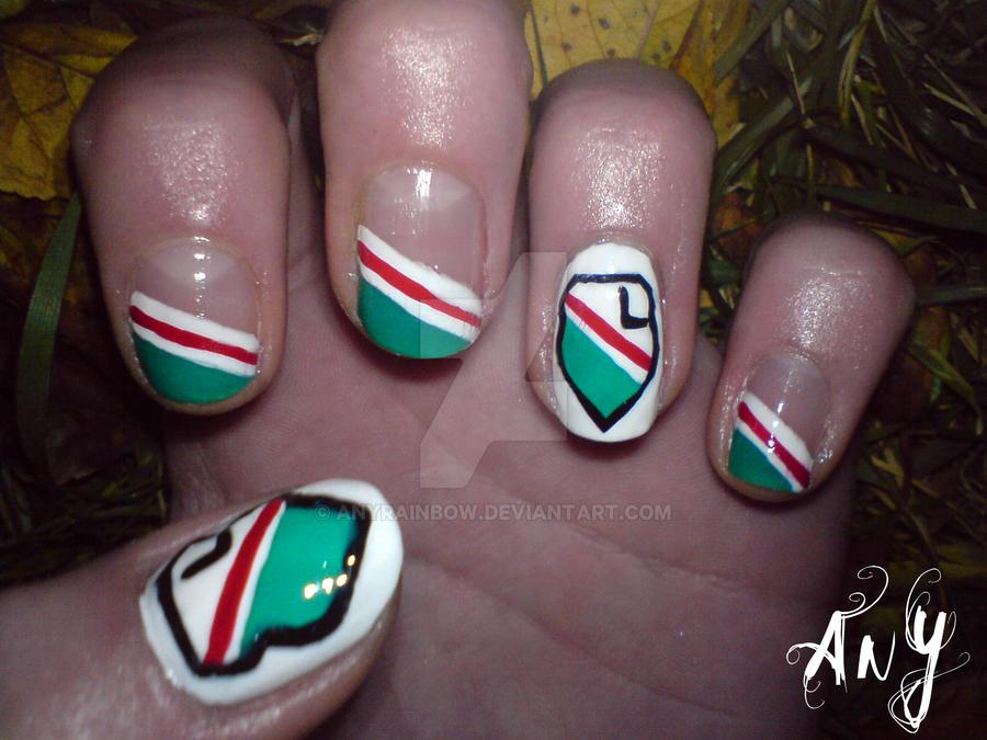 Legia Warszawa Nail Design by AnyRainbow