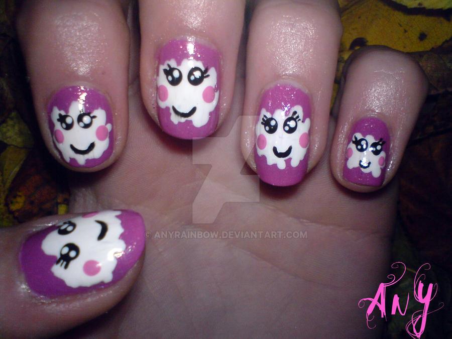 Cute Cloud Nail Design by AnyRainbow