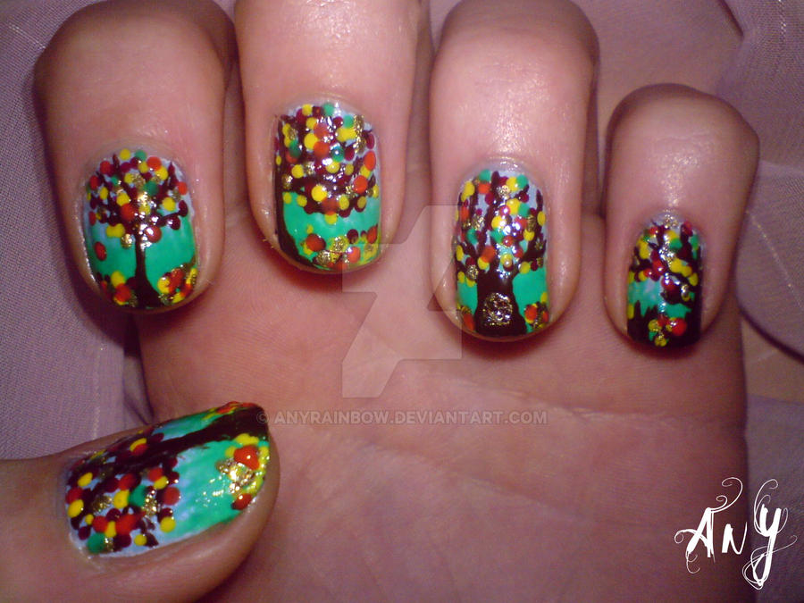 Fall Nail Design by AnyRainbow on DeviantArt