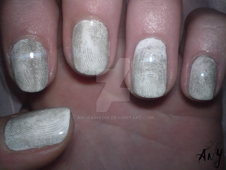 Fingerprint Nail Design by AnyRainbow
