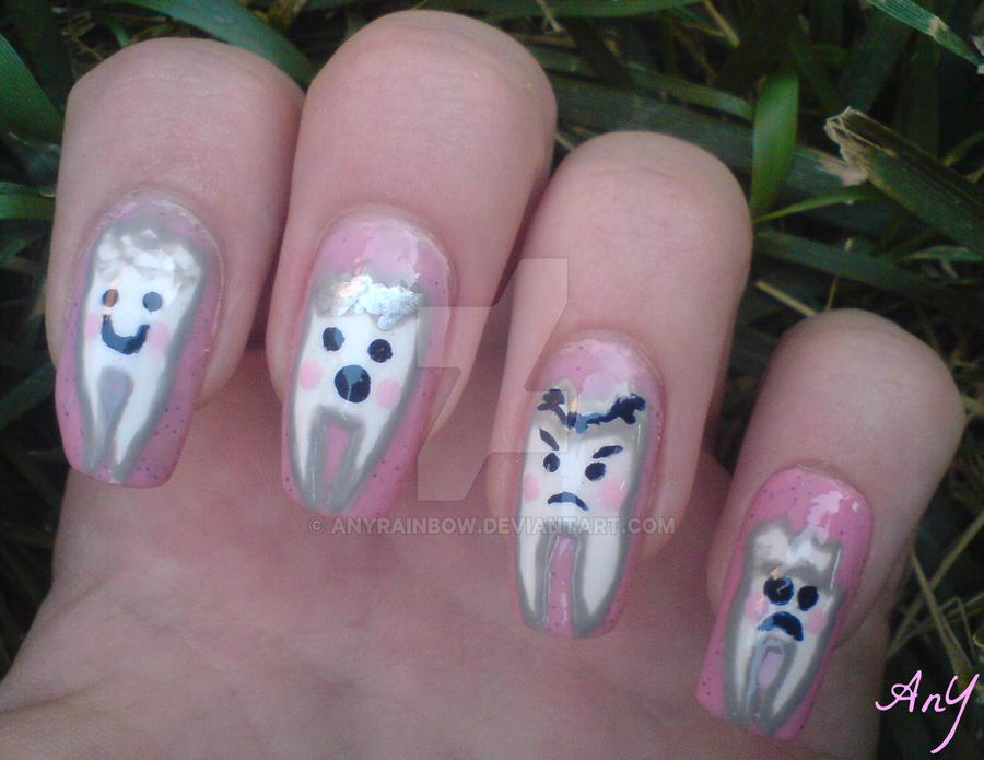 Teeth Nail Design by AnyRainbow
