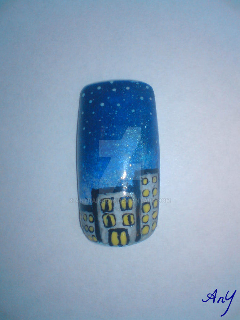 Night Nail Design by AnyRainbow