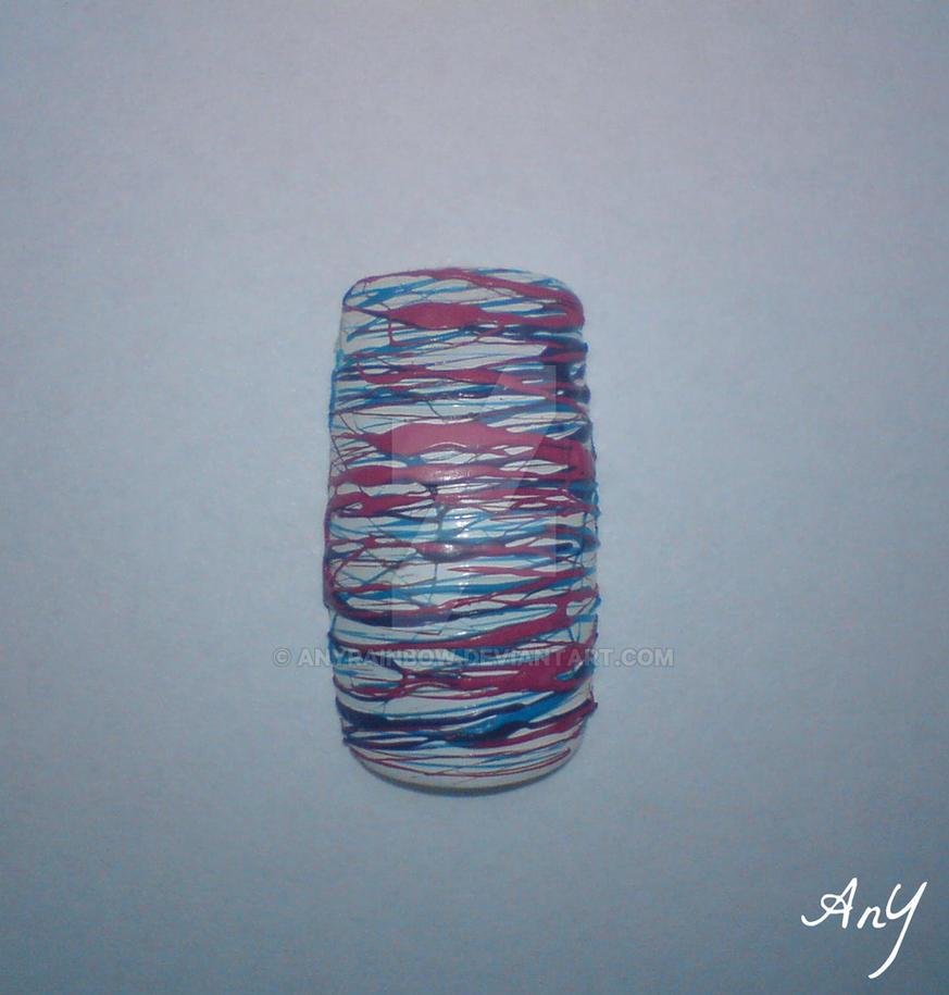 Sugar Spun Nail Design by AnyRainbow