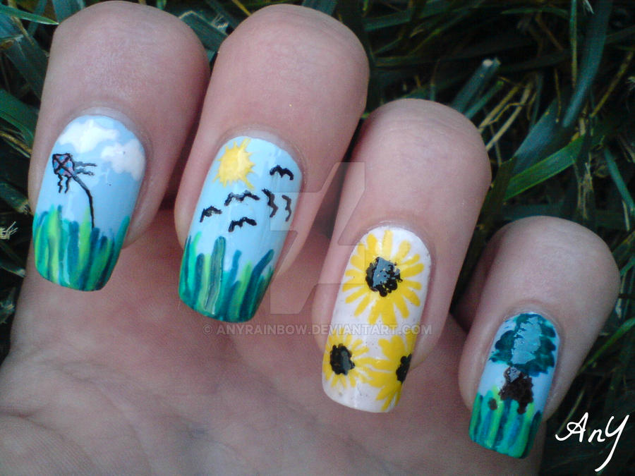 Nature Nail Design by AnyRainbow on DeviantArt