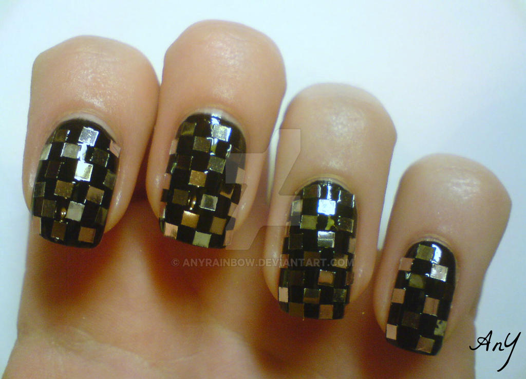 Checkered Nail Design by AnyRainbow