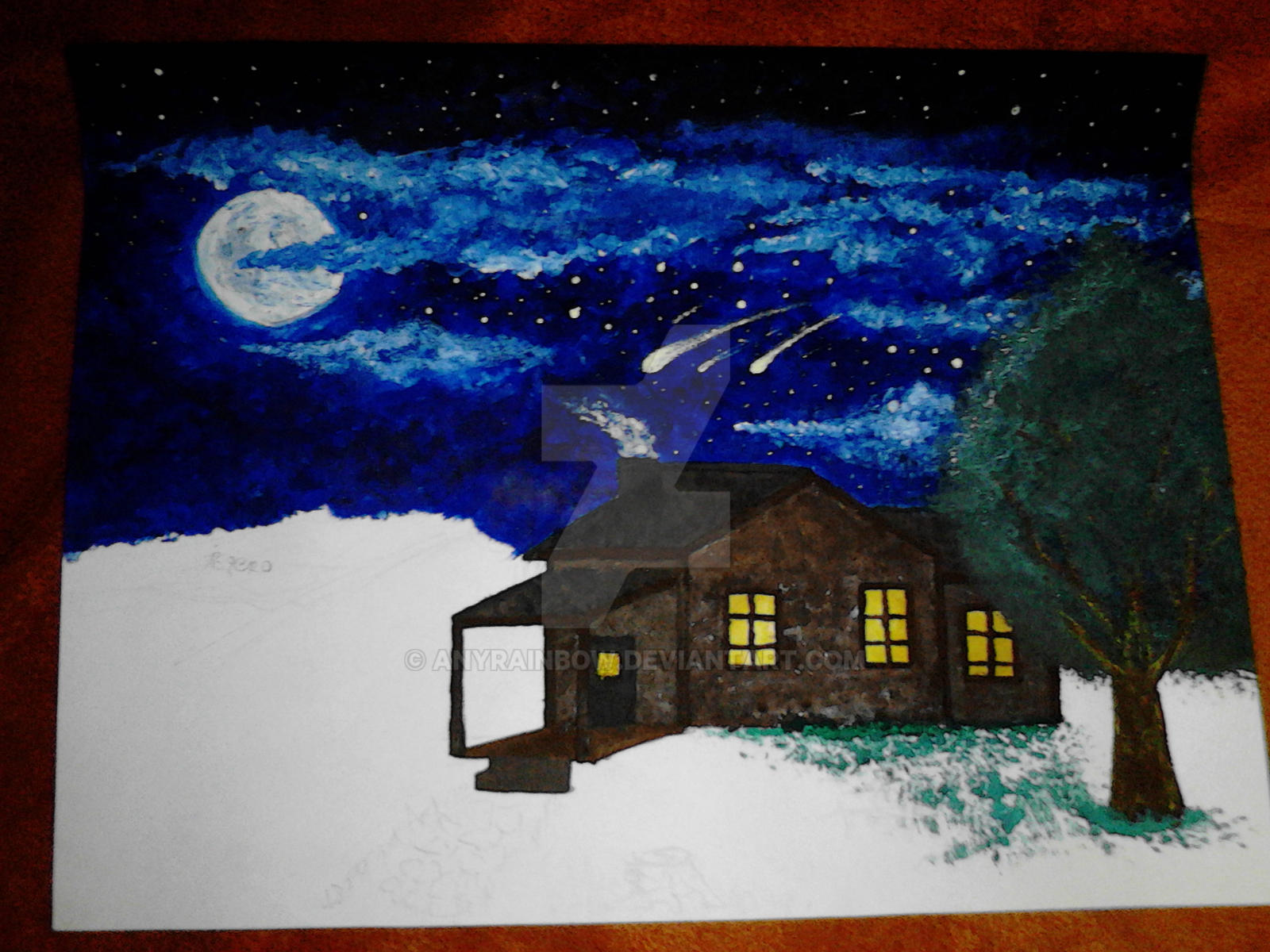 Not Finished But I ADORE The Sky! by AnyRainbow