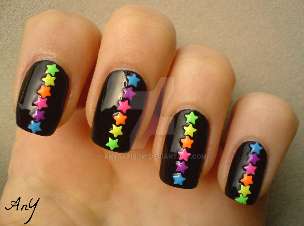 Coloful Nail Studs by AnyRainbow