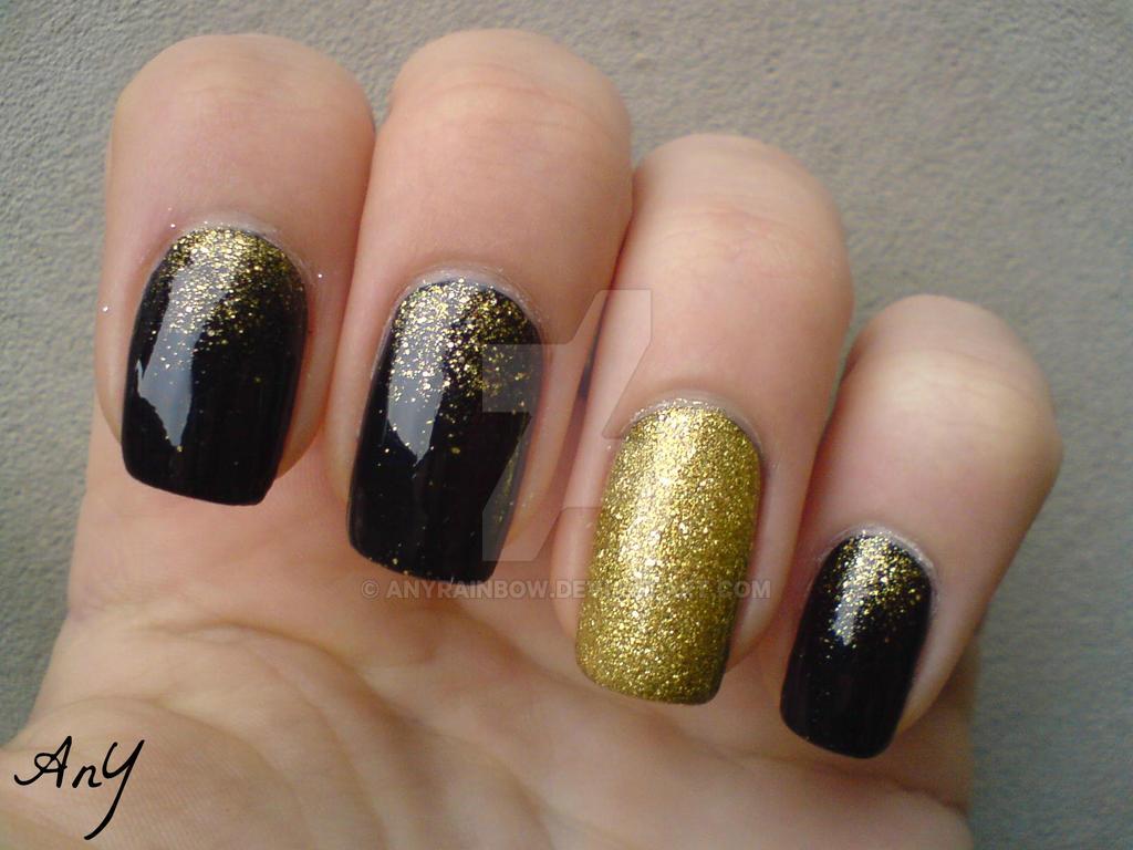 Nail Art Navy And Gold: Navy blue gold glitter nails swoon nail ...