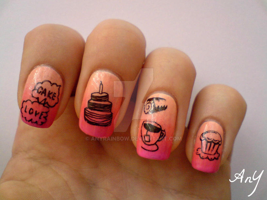 Sweet, Sweeter Nail Design by AnyRainbow