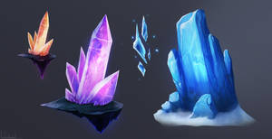 Fantasy Magic Crystals