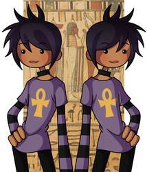 Nephthys Twins by Cazuuki