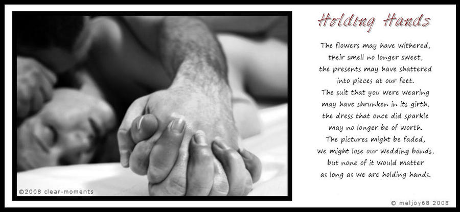 Holding Hands Visual Poem by *meljoy68 on deviantART